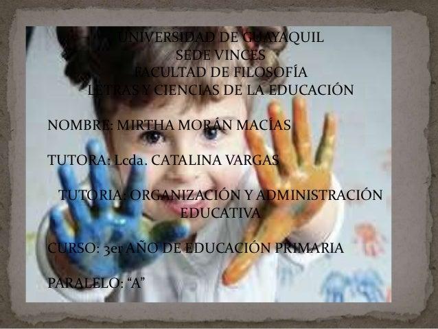 UNIVERSIDAD DE GUAYAQUIL                 SEDE VINCES          FACULTAD DE FILOSOFÍA     LETRAS Y CIENCIAS DE LA EDUCACIÓNN...