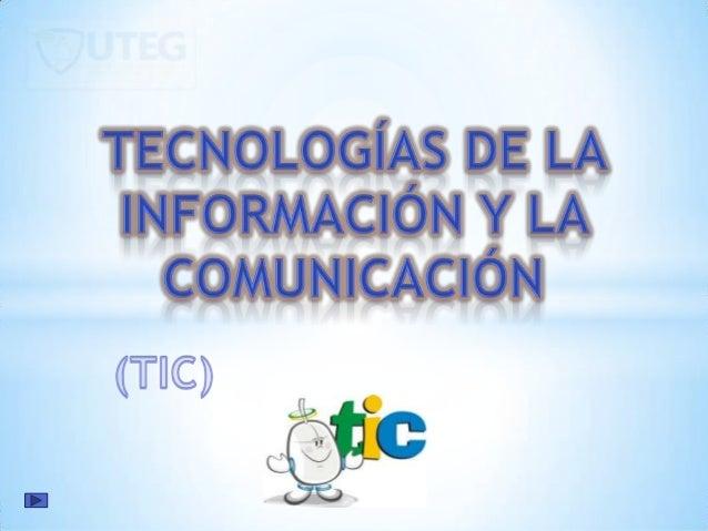 Las Tecnologías de la Información y laComunicación, también conocidas como TIC, son elconjunto de tecnologías desarrollada...