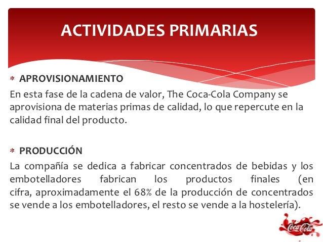 Coca cola - Aprovisionamiento de materias primas en cocina ...