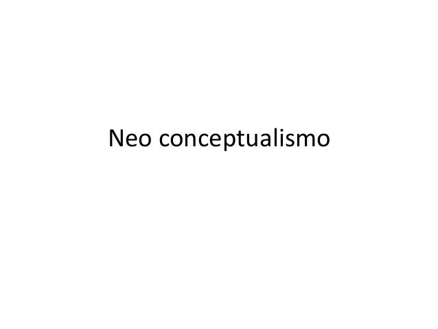 Neo conceptualismo
