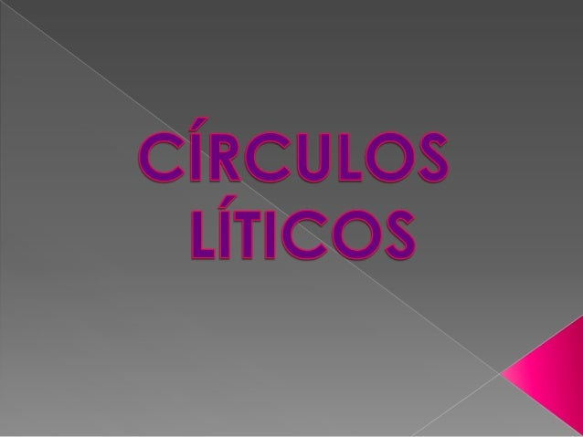 Un CÍRCULO LÍTICO é unmonumento megalítico formado porpedras fitas chantadas no chanformando un círculo ou unha elipse.