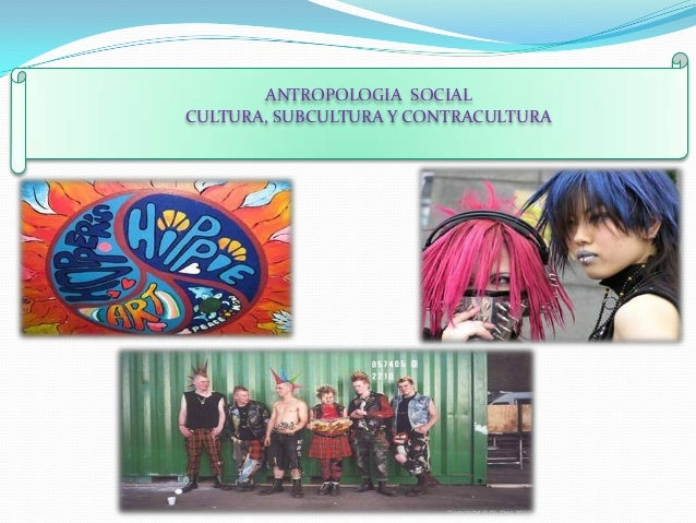 ANTROPOLOGIA SOCIALCULTURA, SUBCULTURA Y CONTRACULTURA
