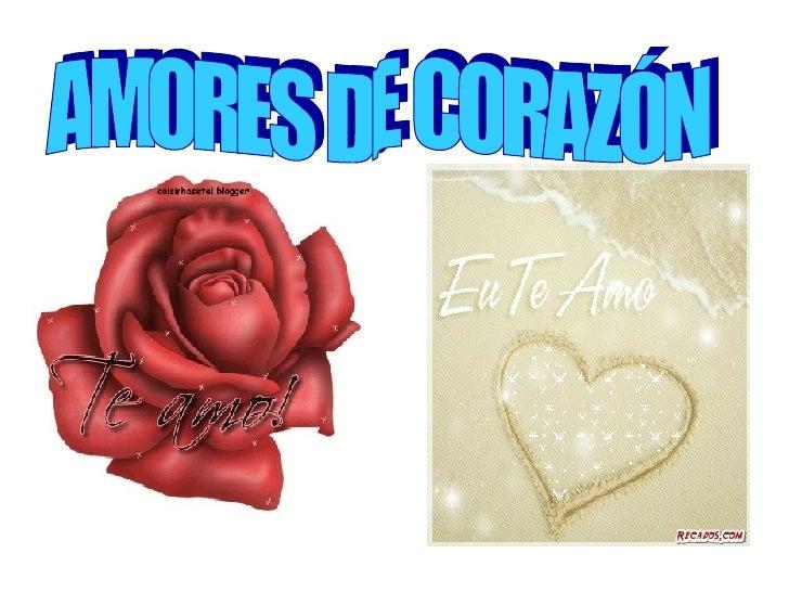 AMORES DE CORAZÓN