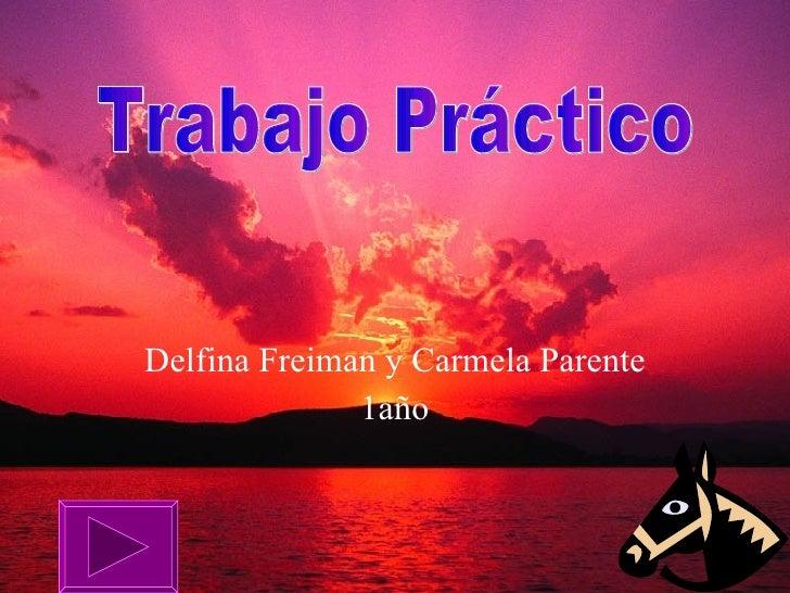 Delfina Freiman y Carmela Parente 1año Trabajo Práctico
