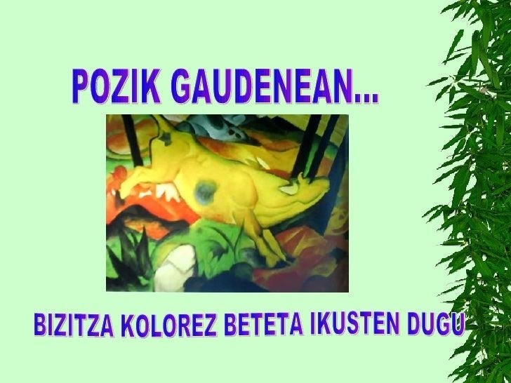 POZIK GAUDENEAN... BIZITZA KOLOREZ BETETA IKUSTEN DUGU