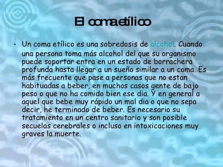 El tipo de la dependencia del alcohol