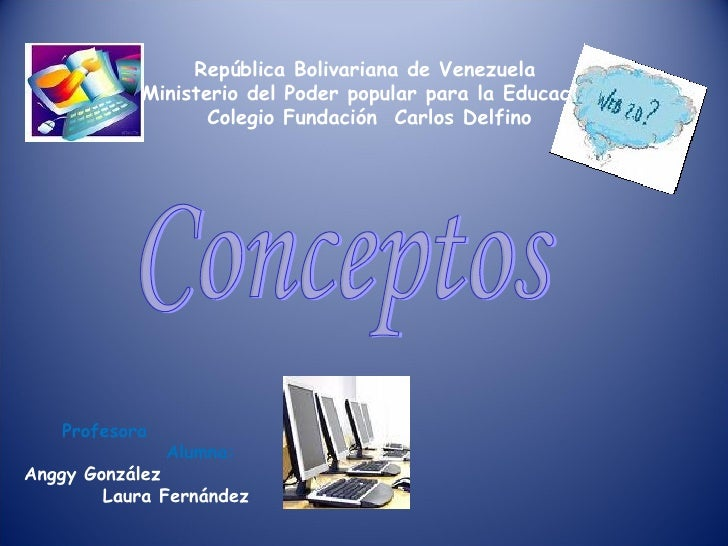 República Bolivariana de Venezuela  Ministerio del Poder popular para la Educación Colegio Fundación  Carlos Delfino Profe...