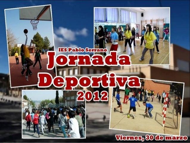 JORNADAS DEPORTIVAS 2012