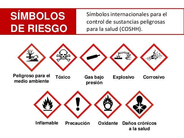 Símbolos internacionales para elSÍMBOLOS                       control de sustancias peligrosasDE RIESGO                  ...