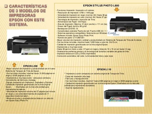  VENTAJASes un sistema para evitar la sustitución frecuente de los cartuchos de tinta de unaimpresora de chorro de tinta ...
