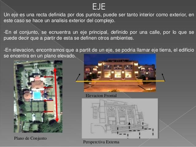 EJEUn eje es una recta definida por dos puntos, puede ser tanto interior como exterior, eneste caso se hace un analisis ex...