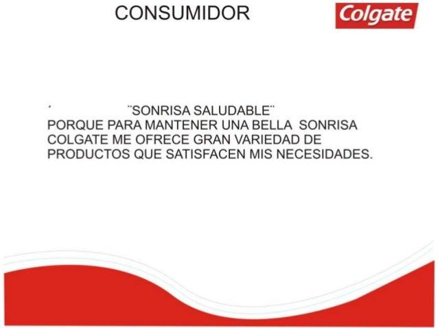 COLGATE - CARACTERIZACIÓN DEL CONSUMIDOR