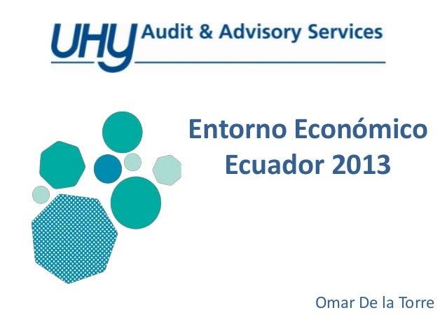Entorno EconómicoEcuador 2013Omar De la Torre