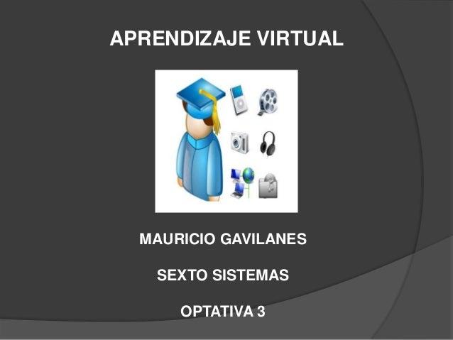 APRENDIZAJE VIRTUALMAURICIO GAVILANESSEXTO SISTEMASOPTATIVA 3