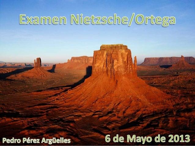 Examen Filosofía. Nietzsche Vs. Ortega y Gasset