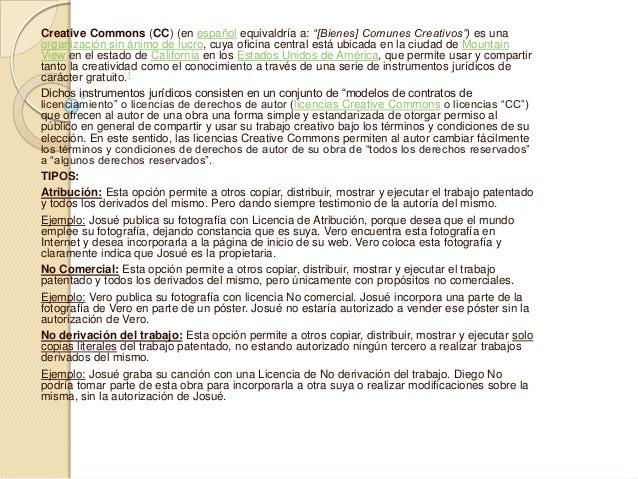 """Creative Commons (CC) (en español equivaldría a: """"[Bienes] Comunes Creativos"""") es una organización sin ánimo de lucro, cuy..."""