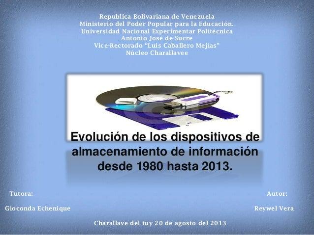 Republica Bolivariana de Venezuela Ministerio del Poder Popular para la Educación. Universidad Nacional Experimentar Polit...