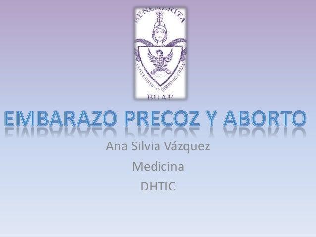 Ana Silvia Vázquez Medicina DHTIC
