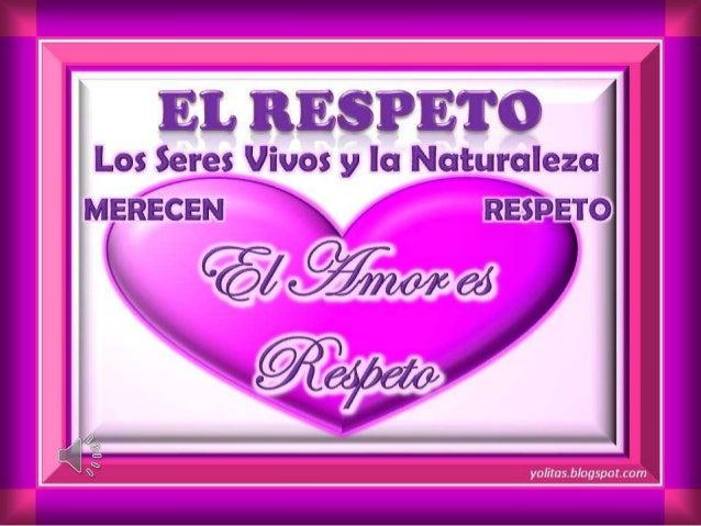 """La palabra respeto proviene del latín respectus y significa """"atención"""" o """"consideración"""". De acuerdo al diccionario de la ..."""
