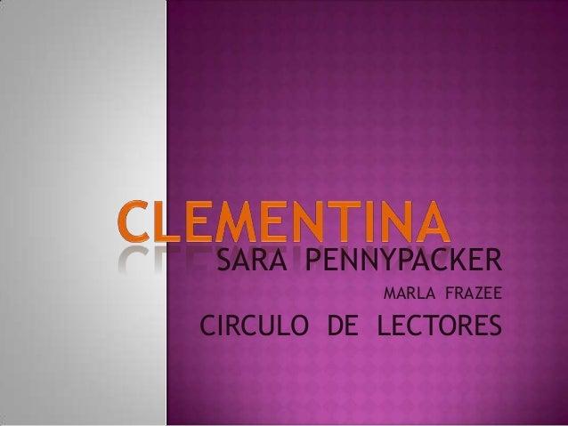 SARA PENNYPACKER MARLA FRAZEE  CIRCULO DE LECTORES