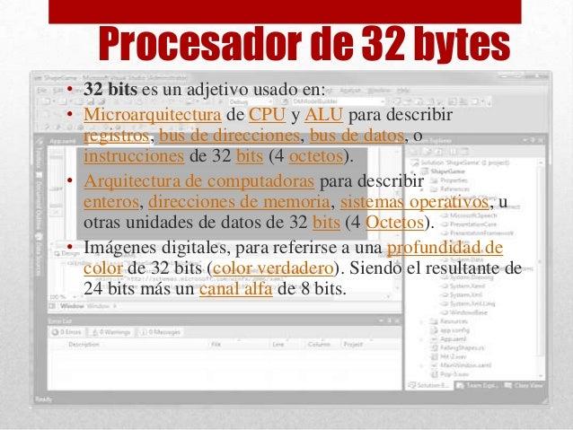 Procesadores de 32 y 64 bits for Arquitectura 32 o 64 bits