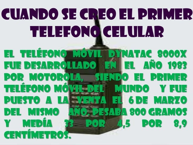 Evoluci n del telefono celular for De donde es el telefono