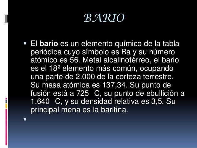 Elementos quimicos 4 bario el bario es un elemento qumico de la tabla peridica urtaz Image collections
