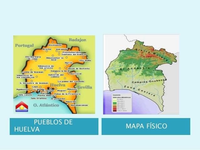 Pueblos De Huelva Mapa.5º De La Biznaga Viaja A Huelva