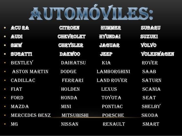 los automoviles