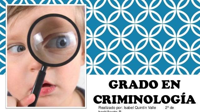 Grado En Criminología