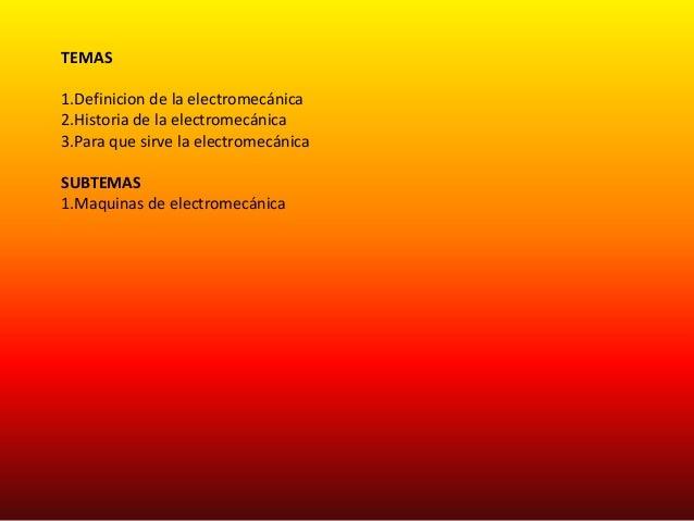 ELECTROMECANICA Slide 2