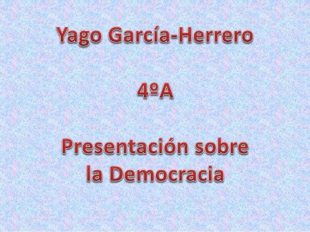 Democracia es una forma de organización social que atribuye la titularidad del poder al conjunto de la sociedad. En sentid...