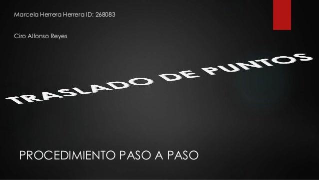 PROCEDIMIENTO PASO A PASO Marcela Herrera Herrera ID: 268083 Ciro Alfonso Reyes