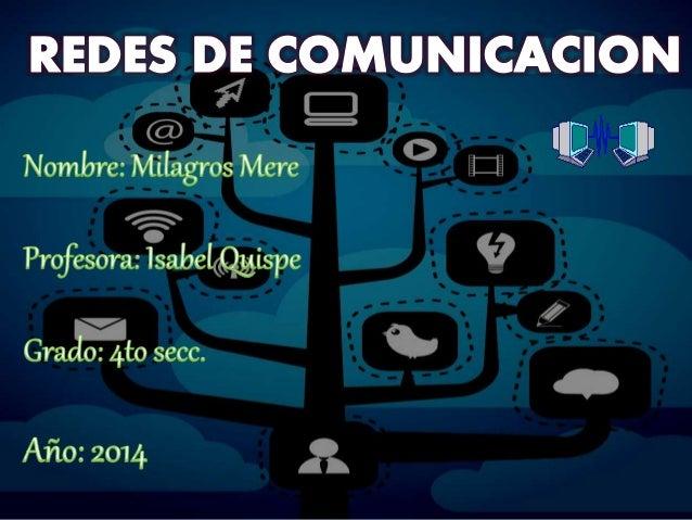 Una red de comunicacione es un conjunto de medios técnicos que permiten la comunicación a distancia entre equipos autónomo...