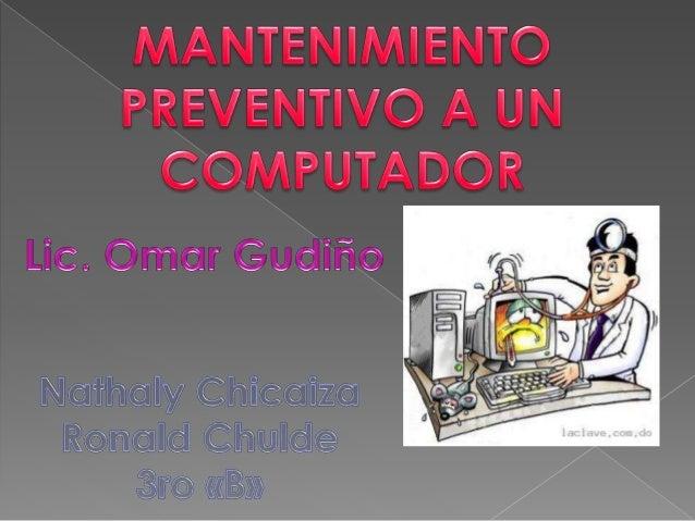 Gran parte de los problemas que se presentan en los sistemas de cómputo se pueden evitar o prevenir si se realiza un mante...