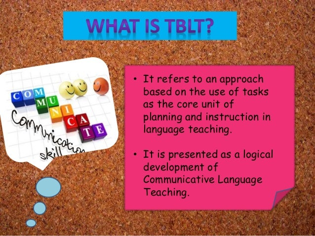 task based approch compred with present Introduction – task-based approach to english language teaching 2  we're  here to compare the cultures shown in a text we've viewed with chinese   audience, right they have the reason why they have to present.