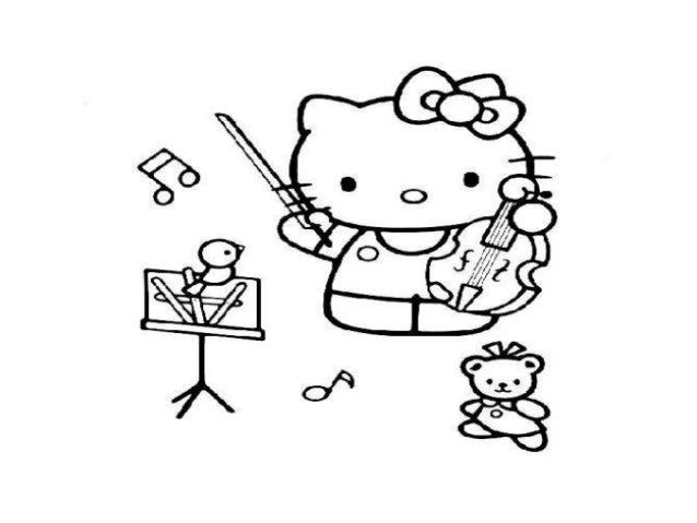 Los instrumentos musicales colorear