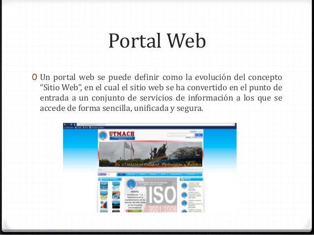 Qu es un portal web pasos para ingresar al portal web for N portal