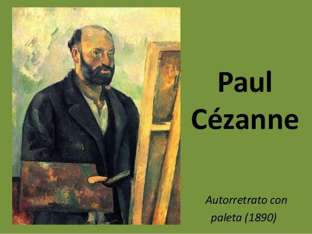 Autorretrato con paleta (1890) Paul Cézanne