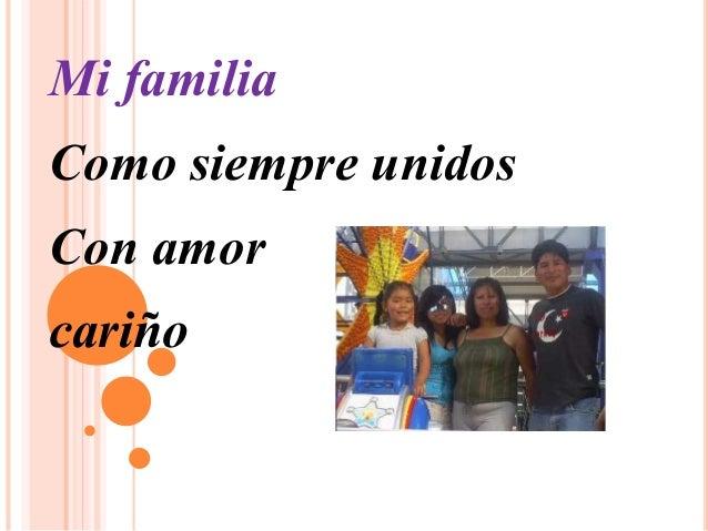 Mi familia Como siempre unidos Con amor cariño