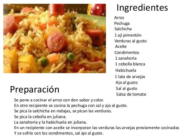 Como hacer un arroz de pollo con salchicha for Como cocinar 5 kilos de arroz