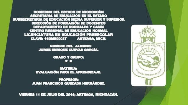 GOBIERNO DEL ESTADO DE MICHOACÁN  SECRETARIA DE EDUCACIÓN EN EL ESTADO  SUBSECRETARIA DE EDUCACIÓN MEDIA SUPERIOR Y SUPERI...
