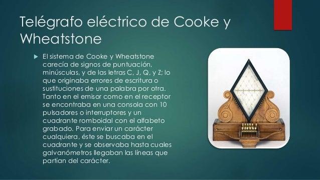 Telégrafo eléctrico de Cooke y  Wheatstone   El sistema de Cooke y Wheatstone  carecía de signos de puntuación,  minúscul...