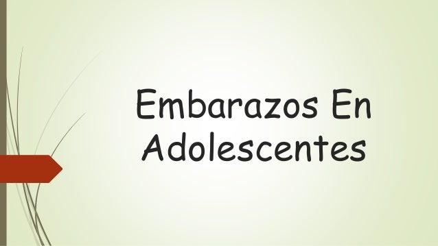 Embarazos En  Adolescentes