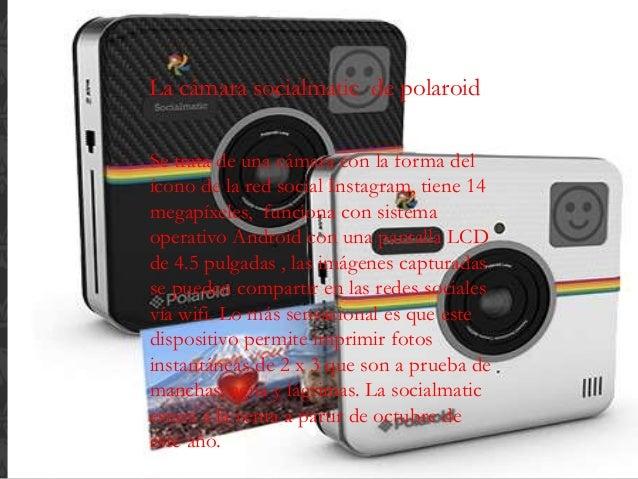 La cámara socialmatic de polaroid Se trata de una cámara con la forma del ícono de la red social Instagram, tiene 14 megap...
