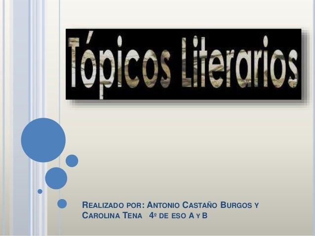 REALIZADO POR: ANTONIO CASTAÑO BURGOS Y CAROLINA TENA 4º DE ESO A Y B