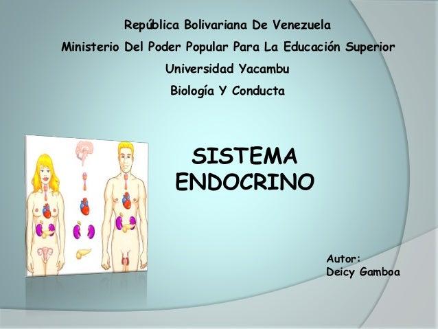 República Bolivariana De Venezuela Ministerio Del Poder Popular Para La Educación Superior Universidad Yacambu Biología Y ...