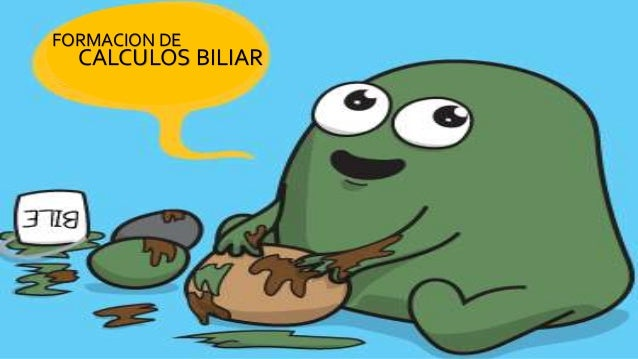 FORMACION DE CALCULOS BILIAR