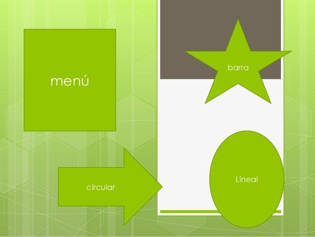 menú barra circular Lineal