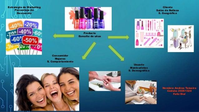 Producto Esmalte de uñas Cliente Salón de Belleza S. Geográfica Usuario Manicuristas S. Demográfica Consumidor Mujeres S. ...